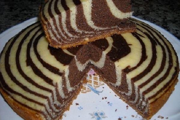 Полосатый пирог Зебра