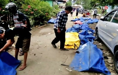 Почти 400 человек погибли в результате цунами в Индонезии