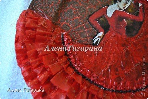 Декор предметов Мастер-класс Декупаж Тарелка Фламенко Бумага фото 26