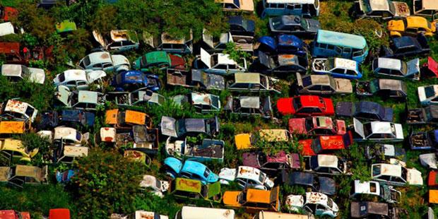 Последняя парковка автомобилей...