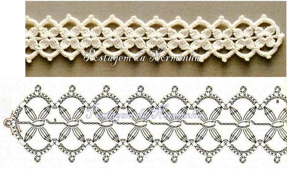 Вязание крючком вязание тесьма узоры