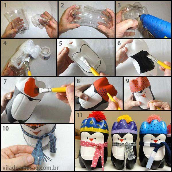 reciclado de botellas de plastico - muñequitos 5