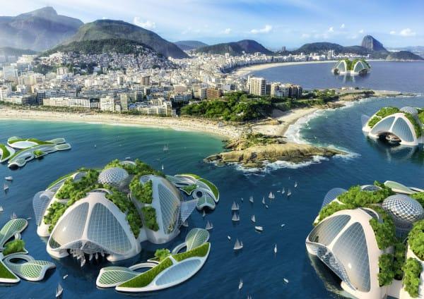 Спроектирован город будущего удивительной красоты