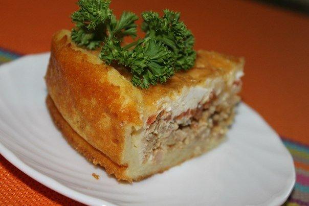 Картофельный пирог с фаршем …