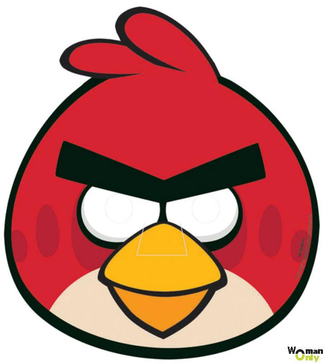 Новогодние маски из бумаги - праздник уже с вами маска angry bird