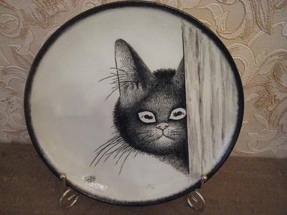 """Тарелки ручной работы. Ярмарка Мастеров - ручная работа тарелка """"Так вот они где,мои любимые мышки!""""(продана). Handmade."""