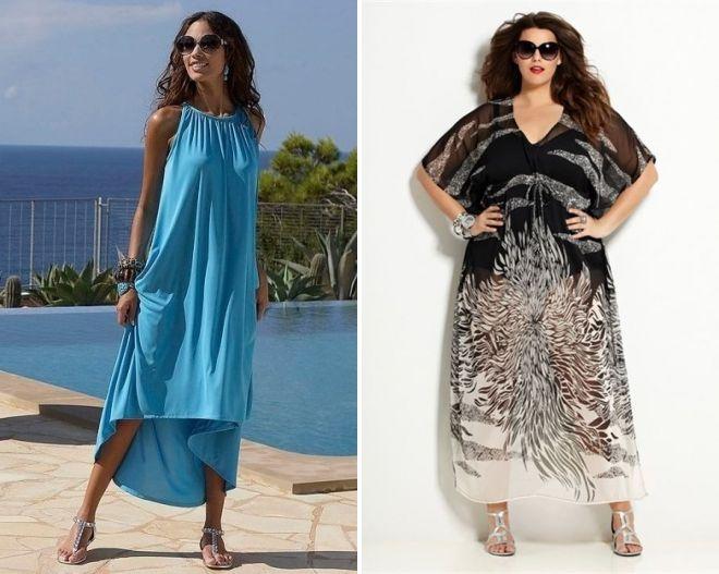 летние платья балахоном