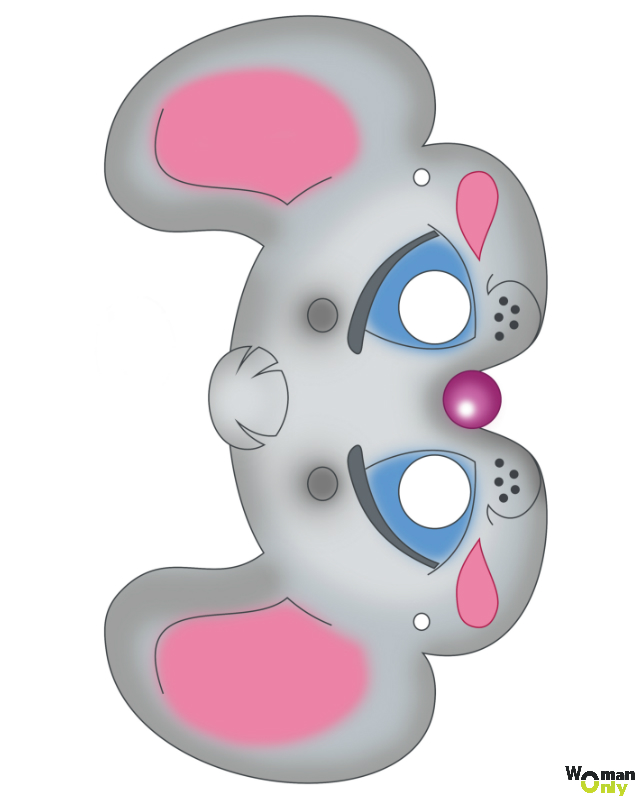 Новогодние маски из бумаги - праздник уже с вами маска мыши