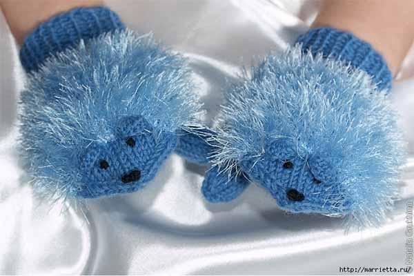 Варежки-ежики для детей 5-6 лет