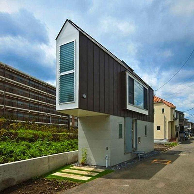 Крошечный треугольный дом и его роскошная обстановка внутри