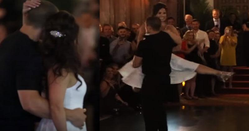 Молодожены на свадьбе станце…