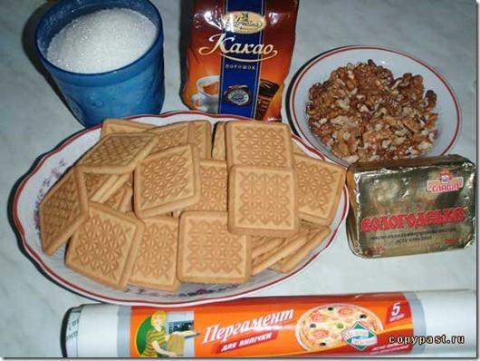 Как делать шоколадную колбасу рецепт пошагово