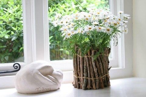 Необычная ваза своими руками.