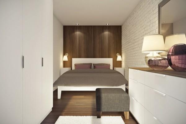 Дизайн спальни в двухкомнатной квартире студии 45 кв м