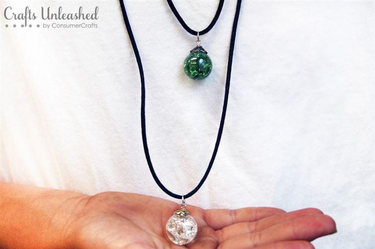 """""""Мраморное ожерелье"""" - простой и изящный кулон своими руками"""