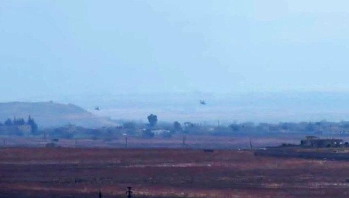 Удары российских вертолетов по ИГИЛ. Видео бойцов сирийской армии(ВИДЕО)