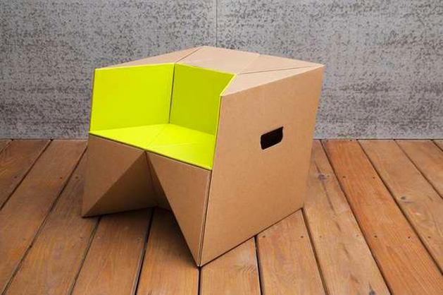 Мебель из картона: вдохновляющие примеры и идеи