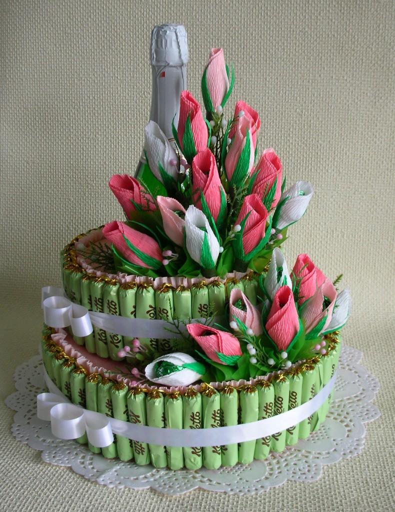 Торт из конфет своими руками для женщин