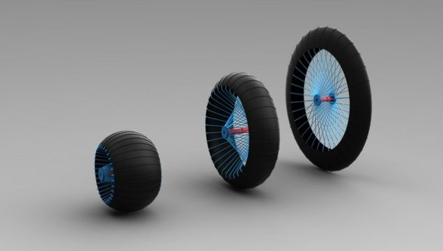 Одно расширяющееся колесо для самых разных дорог