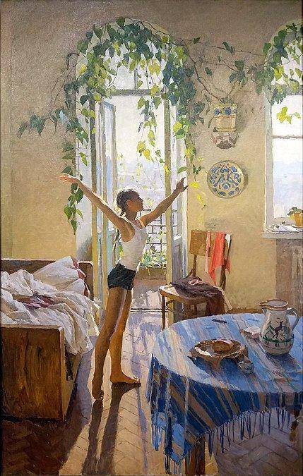 История девушки с картины советской художницы Татьяны Яблонской «Утро»