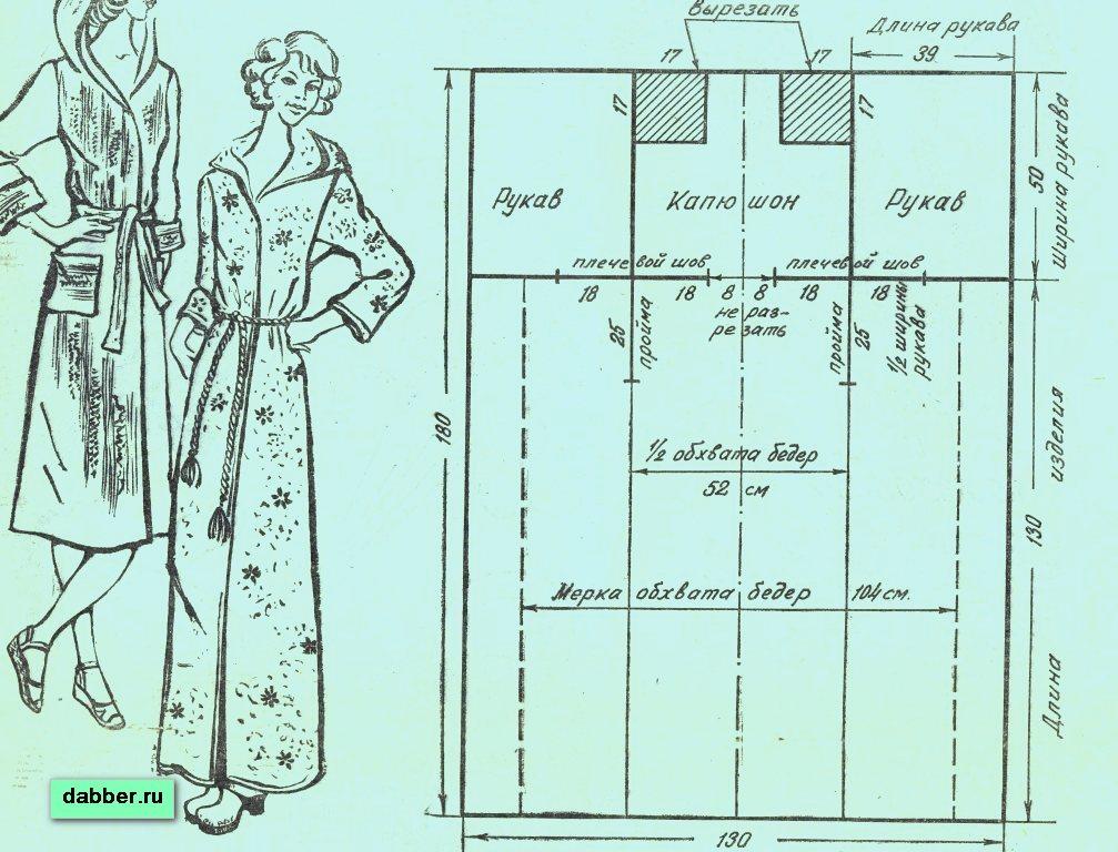 Простые выкройки мужского халата