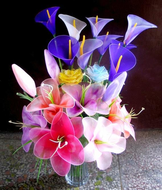 Цветы из капрона. Мастер-класс