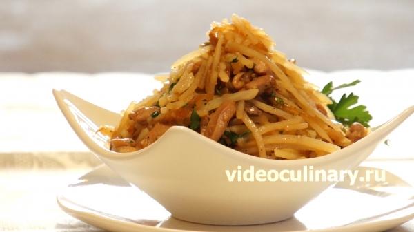 Корейский картофельный салат Камди-ча от videoculinary.ru