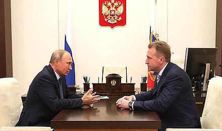 Встреча спредседателем Внешэкономбанка Игорем Шуваловым