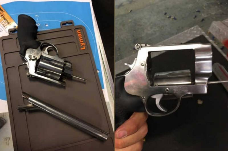 Револьвер S&W калибра .50 взорвался в руках