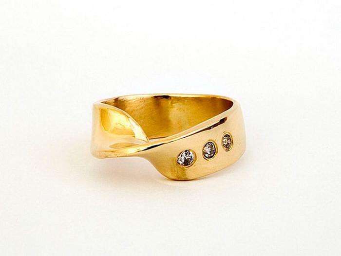 Кольцо, повторяющее форму листа Мебиуса диза, кольцо, креатив