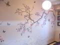 декор стены рисунком
