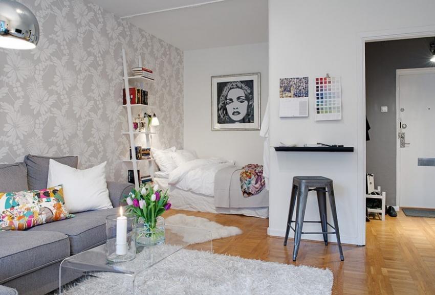 Идеи для интерьера для однокомнатной квартиры фото