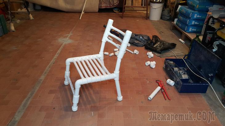 Кресло качалка из полипропиленовых труб своими руками 164