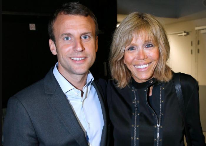 Новый президент Франции женат на своей школьной учительнице и нянчит ее внуков