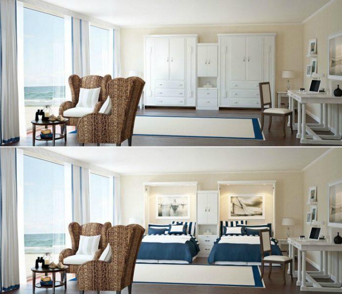 Замечательные кровати для больших семей и маленьких пространств