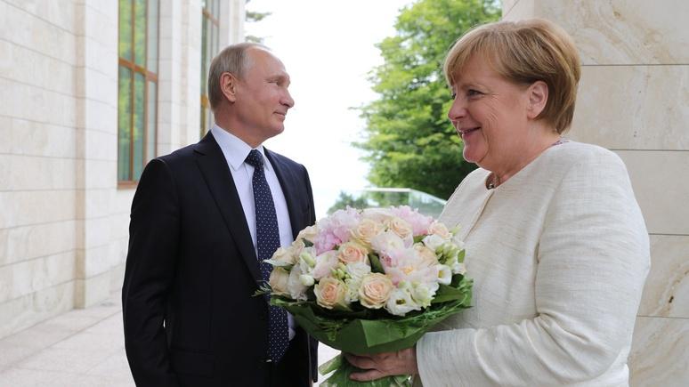 Букет Путина для Меркель рас…