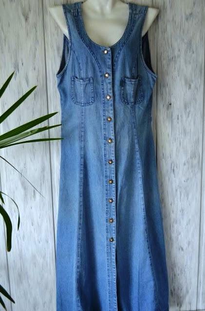 Превращение скучного джинсового халата в стильный летний наряд