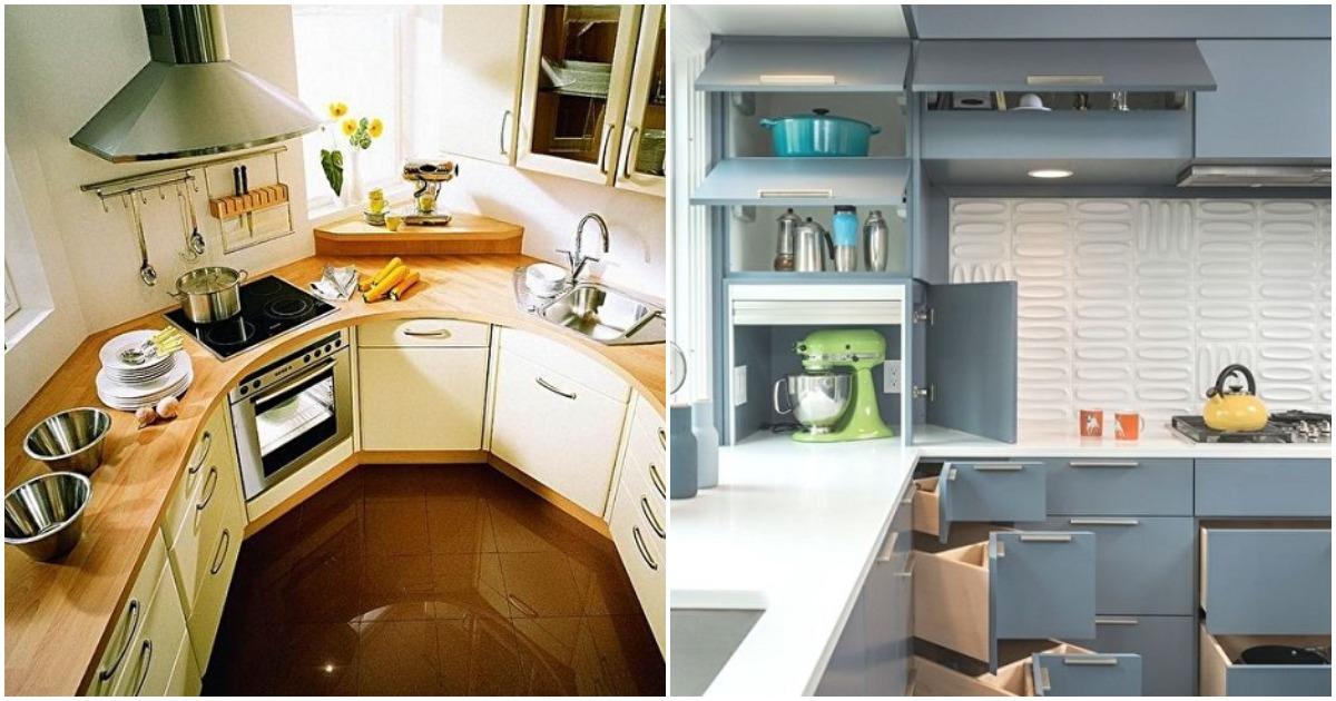 Уместить все необходимое можно даже на самой маленькой кухне