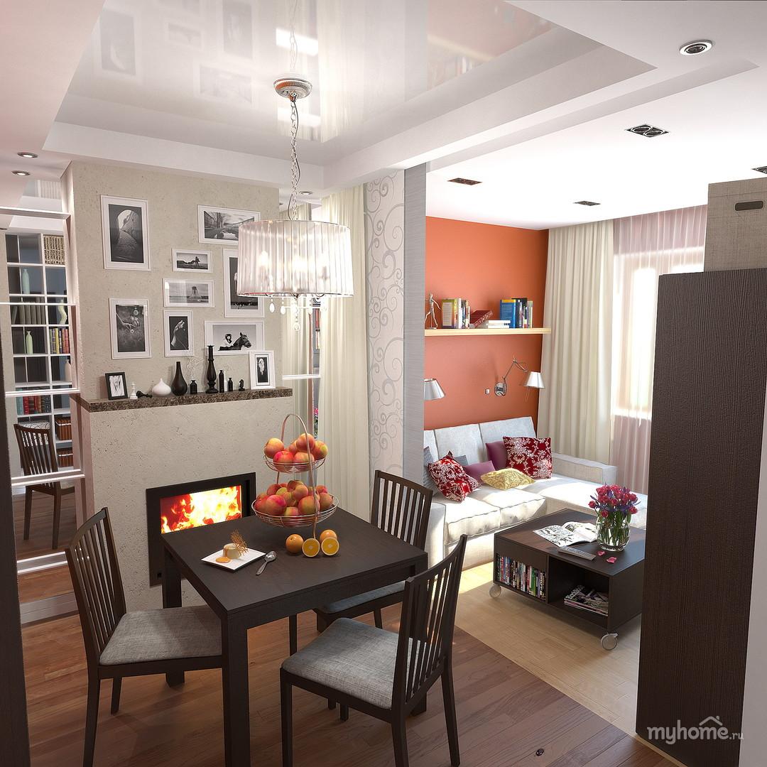 Дизайн малогабаритной квартиры гостиная в окне