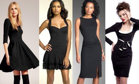 Фасоны черных платьев
