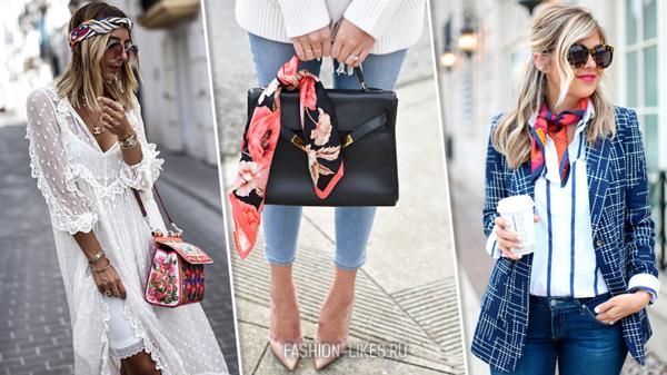 12 стильных примеров, как носить шейный платок и оставаться модной