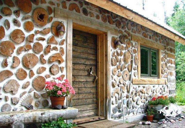 Дом глиночурка (дом из дров)