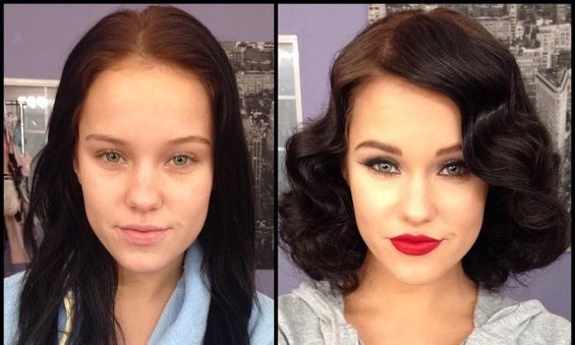 Макияж для девушек фото до и после