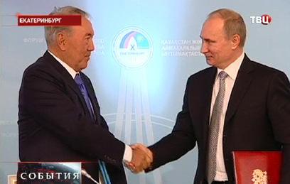 Путин и Назарбаев обсудили по телефону ситуацию в экономике