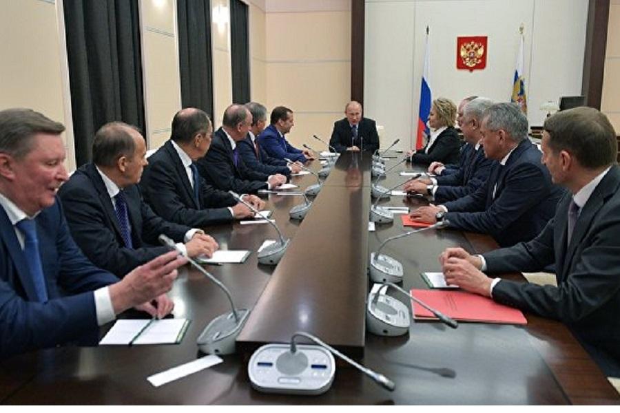 Путин обсудил с членами Совбеза положение церкви на Украине