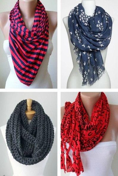 Женский шарф – 60 примеров и вариантов ношения!