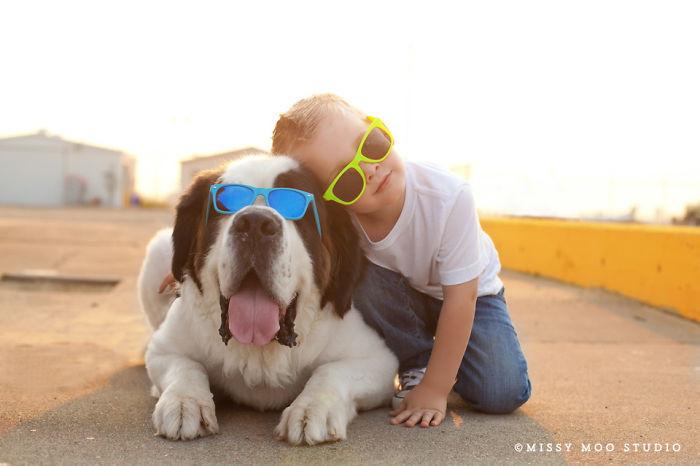 В одном стиле  дружба, ребенок, собака