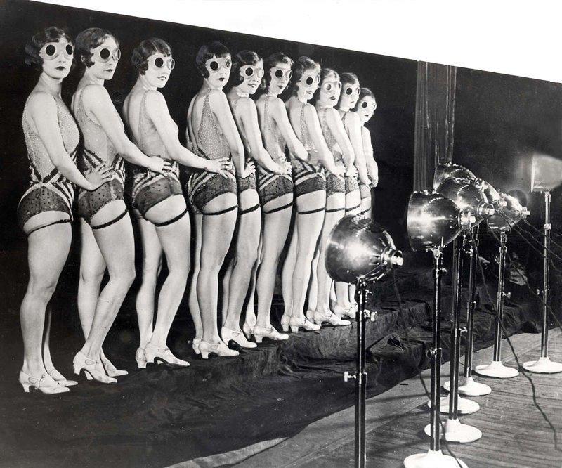 19. Девушки из кордебалета, США, 1929 год век, мир, прошлое, снимок, событие, странность, фотография