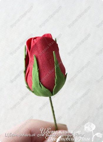 Мастер-класс Флористика искусственная Моделирование конструирование Мастер-класс со созданию бутона розы из фоамирана Фоамиран фом фото 18