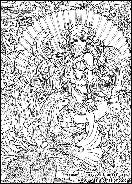 Adult Coloring Pages Mermaids - Free Coloring Page Coloring Pages By Coloringpagespic.com Resolution: 429 x 600 · 125 kB · jpeg:
